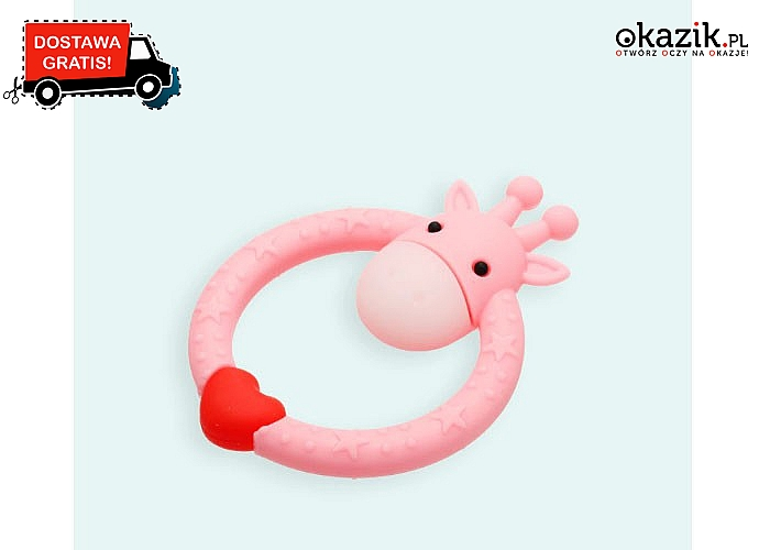 Kształt oraz motyw gryzaka tak zainteresuje dziecko, że zapomni o bolących dziąsłach!