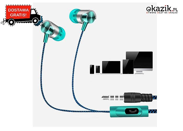 Pasują do wszystkich urządzeń posiadających gniazdo audio 3.5mm! Rewelacyjny dźwięk!