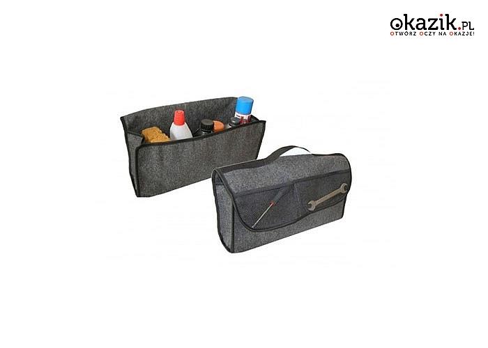 Filcowy organizer do bagażnika do przechowywania niezbędnych przedmiotów