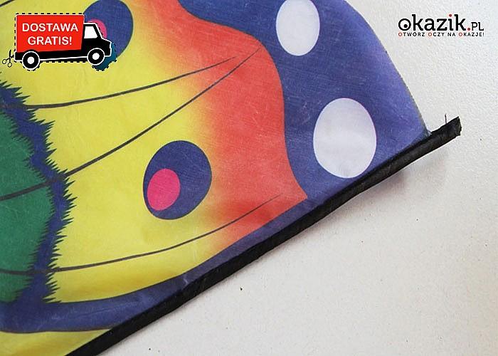 HIT! Bajeczny latawiec w stylu Motyla! Przepiękny i klasyczny! Dwie dostępne długości! Wytrzymały materiał!