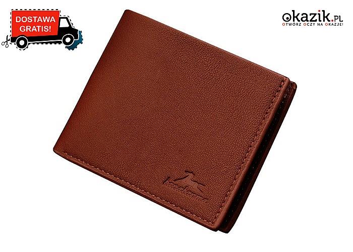 Stylowy portfel to podstawowy męski dodatek! Idealny na prezent!