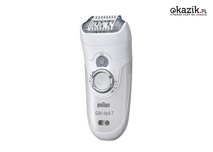 Depilacja, golenie czy przycinanie z depilatorem Braun Silk-epil 7 Wet&Dry 7561