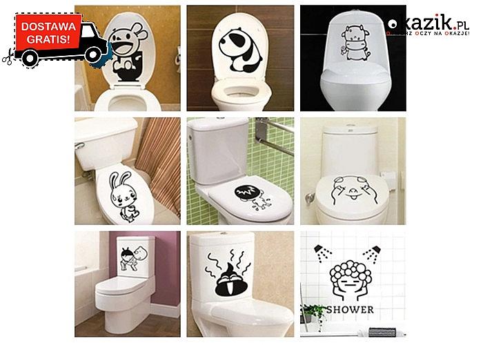 Zabawna naklejka to idealny sposób, by zaaranżować wnętrze łazienki!