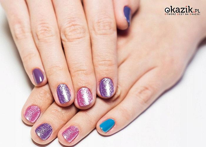 Kreatywny zestaw do tworzenia brokatowych paznokci! Stwórz unikalne wzory!