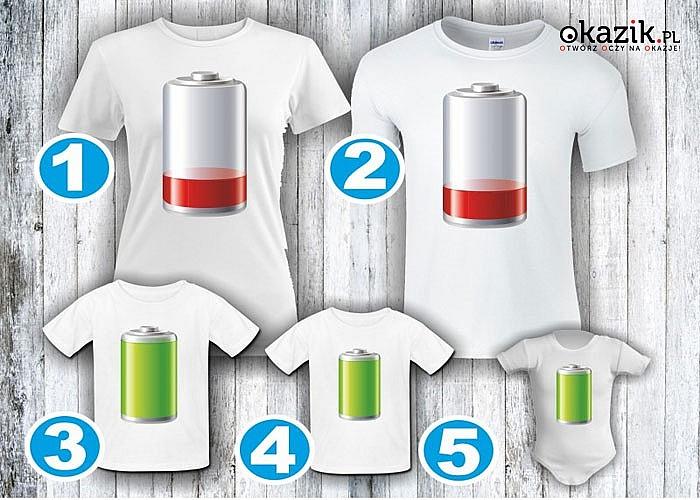 Koszulki dla całej rodziny! Baterie! Doskonała na prezent! Najwyższa jakość!