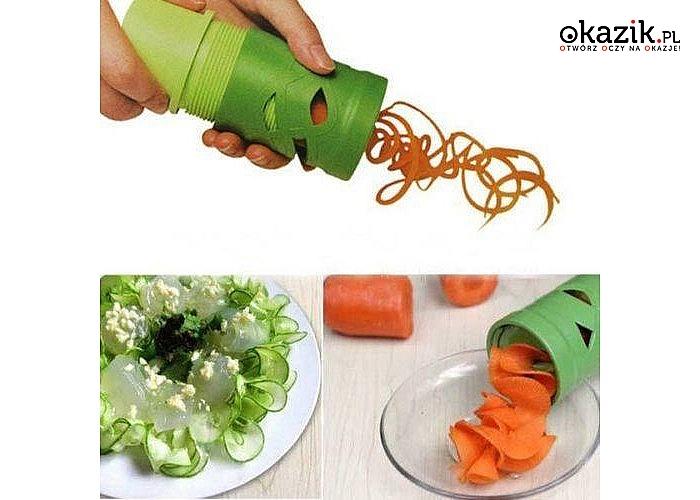Temperówka do dekoracji warzyw! Poręczne i łatwe w użyciu narzędzie, które oryginalnie pomoże udekorować potrawy!