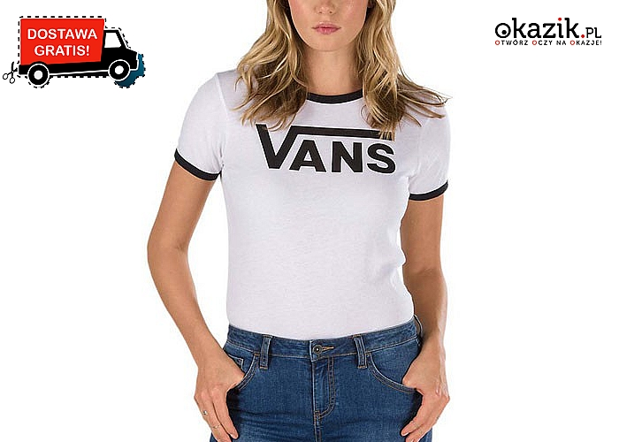 Bluzka damska Vans! Prosty, klasyczny fason! Doskonałe dopasowanie! Komfortowa i stylowa!
