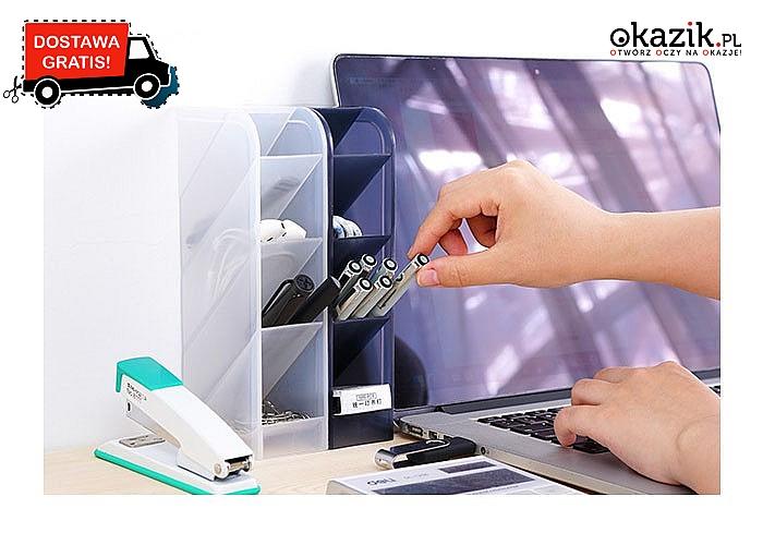 Przybornik pomaga uporządkować akcesoria biurowe i nie tylko! Patent na ład i porządek!