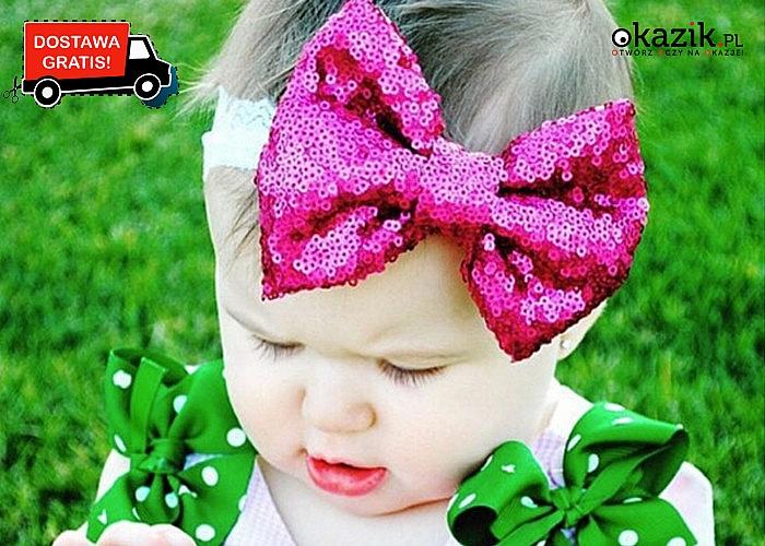 Opaska z kokardką to miękki i przyjemny w dotyku wspaniały dodatek dla dzieci!