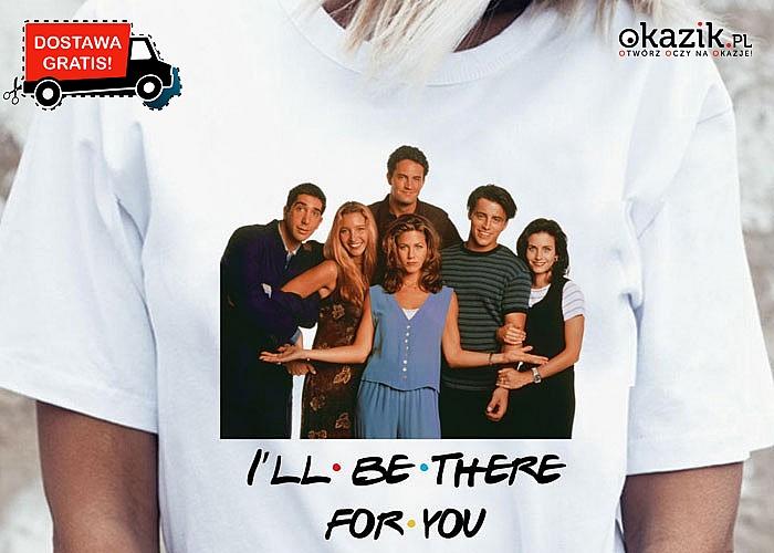 Koszulka z nadrukiem z bohaterami kultowego serialu Przyjaciele!