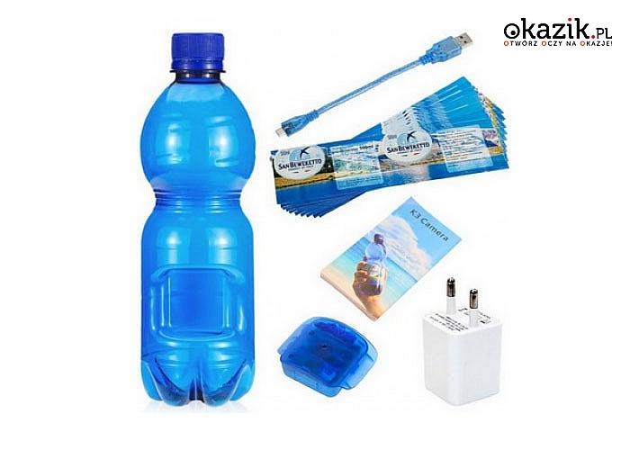 HIT! Kamera detektywistyczna ukryta w butelce z wodą