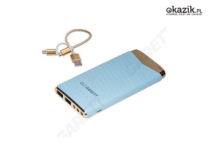 PowerBank Garett Power! Nowoczesny i elegancki design! 3 modele do wyboru! Szeroka kompatybilność! LED!