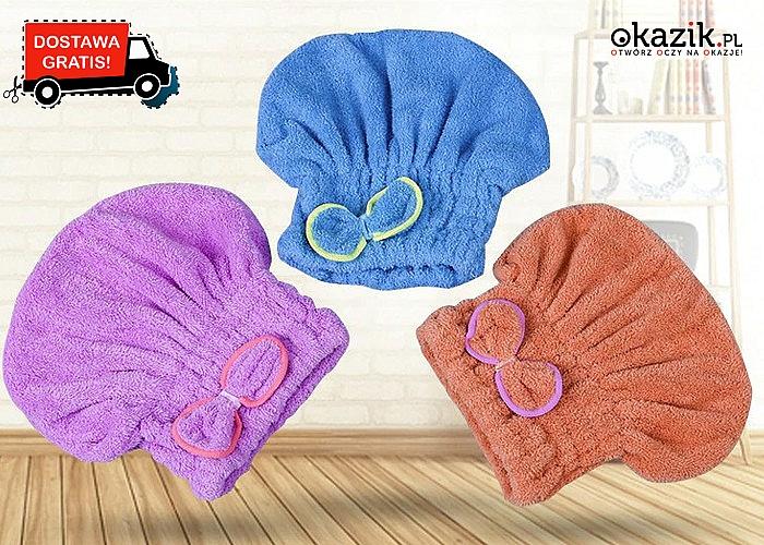 Doskonale chłonny turban z kokardą! Wyjątkowy kształt!