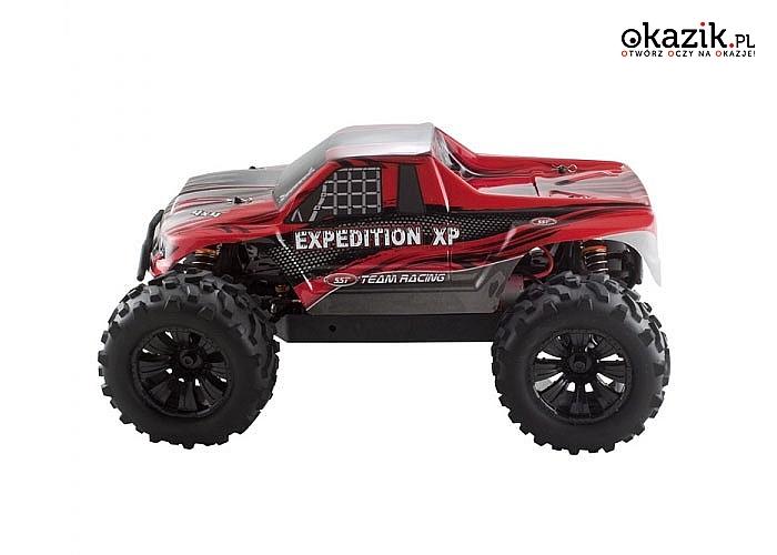 Auto elektryczne MONSTER RTR 1:10 Off-Road (czerwony) – SST! Doskonała konstrukcja! 3 modele! Doskonały na prezent!