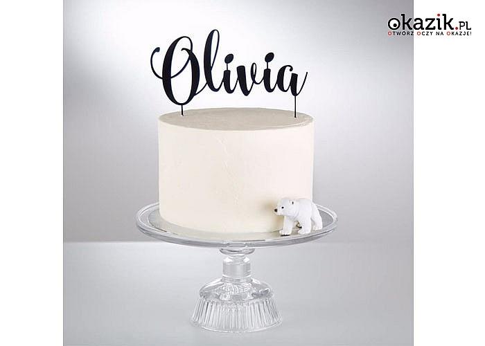 Imienne spersonalizowane toppery, udekoruj swoją imprezę lub uszczęśliw tego kto ma urodziny