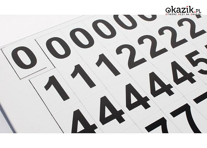 Magnetyczne cyferki umożliwiające układanie tysięcy dowolnych operacji matematycznych