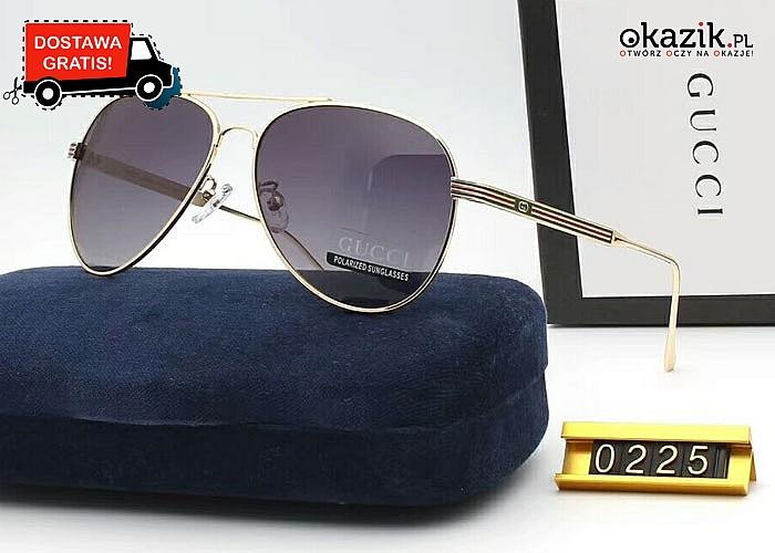 Absolutny HIT! Okulary przeciwsłoneczne Gucci! Podkręć letnią, plażową stylizację!