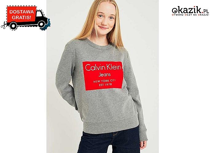 Niezwykle charakterystyczny fason! Bluza damska Calvin Klein! Doskonała jakość wykonania!