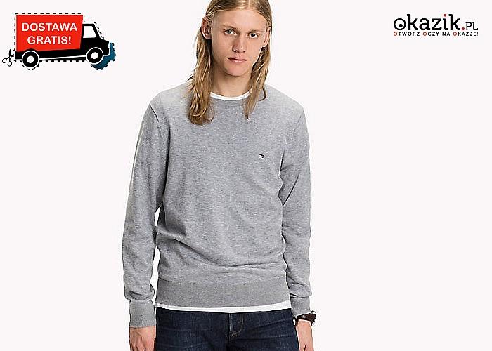 Elegancka propozycja dla każdego mężczyzny! Sweter męski Tommy Hilfiger! Doskonała jakość wykonania!