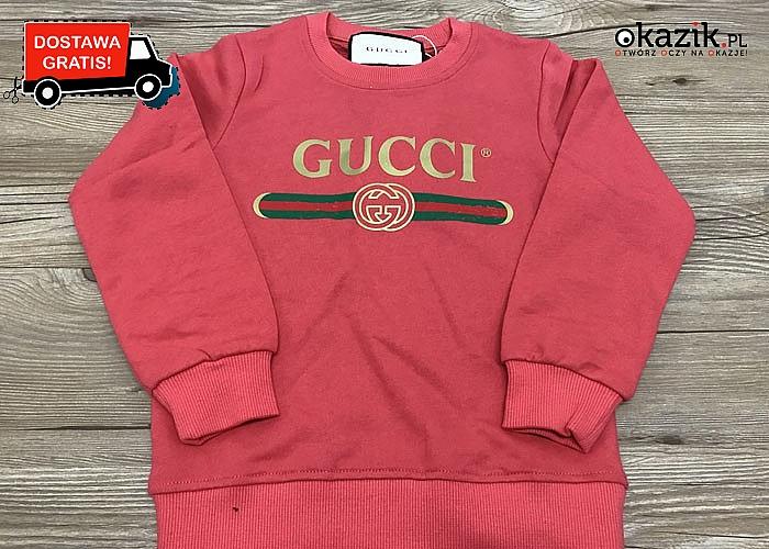Markowa bluza GUCCI dla dzieci. Doskonała jakość, piękne kolory!