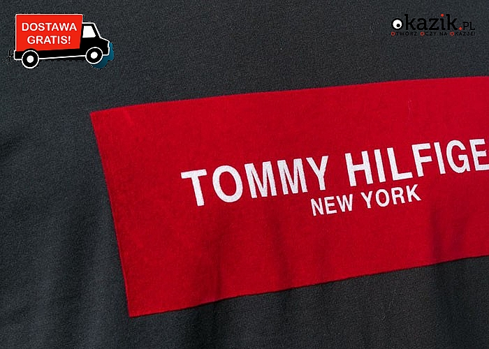 Bawełniana, męska koszulka na krótki rękaw od Tommy Hilfiger!