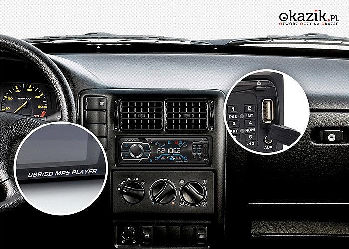 Radio samochodowe VORDON HT-896B moc 4x60W + PILOT