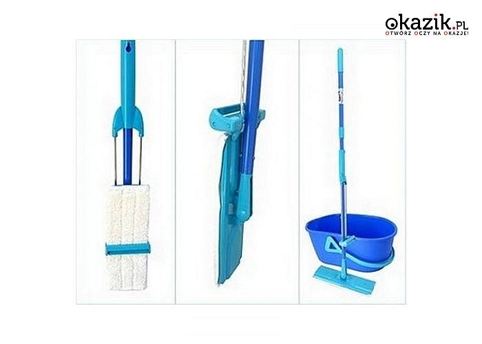 Nowoczesny i praktyczny zestaw renomowanej firmy Spontex  Quick Max Set sprawi ,że sprzątanie stanie się przyjemniejsze