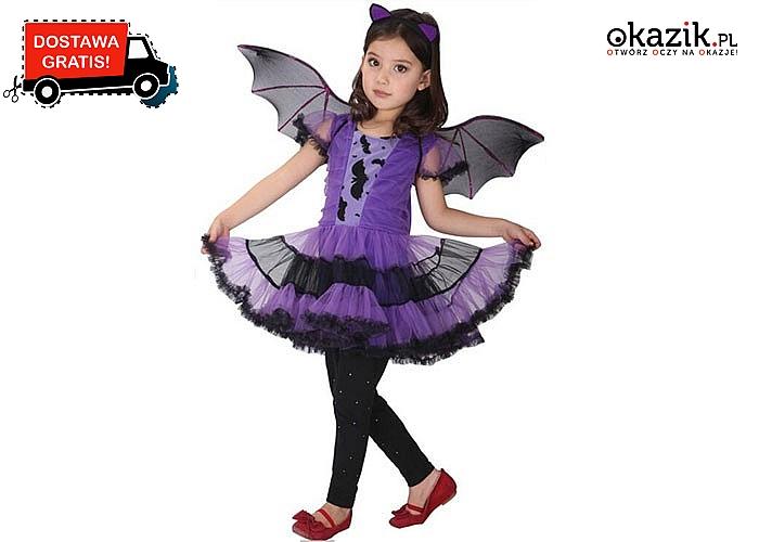 Dziewczęca sukienka ze skrzydłami na Halloween. Wysyłka GRATIS!