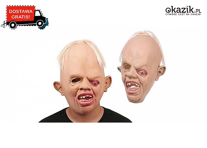 Straszna maska na Halloween. Wykonana z lateksu, realistyczna! Przestraszy każdego! Wysyłka GRATIS! (64 zł)