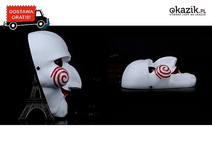 """Maska z kultowego filmu """"Piła"""" - idealna na Halloween, bale maskowe itp. Zrób wrażenie!  Wysyłka GRATIS! (19.90 zł)"""