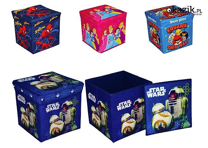 Świetny pojemnik na zabawki 2 w 1! Ozdobne pudełko może służyć także jako pufa.