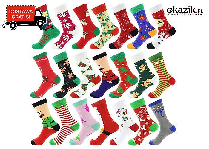 REWELACYJE, kolorowe skarpetki!  Uzupełnij świąteczną garderobę!