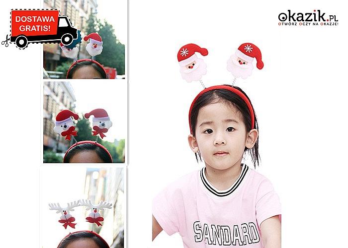 HIT! Wesołe, świąteczne opaski na głowę dla dzieci!