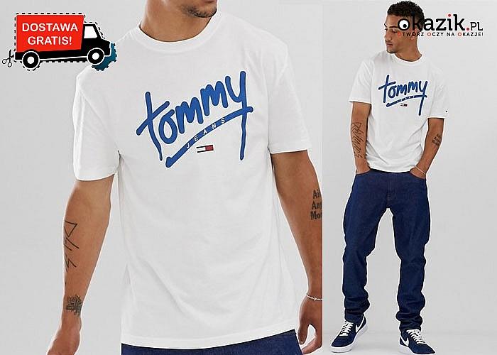 Bluzka męska Tommy Hilfiger! Nowatorski, sportowy fason! DARMOWA przesyłka! Doskonałe wykonanie!