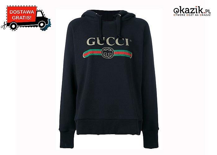 Postaw na sportowy styl! Bluza męska Gucci w dwóch kolorach do wyboru.