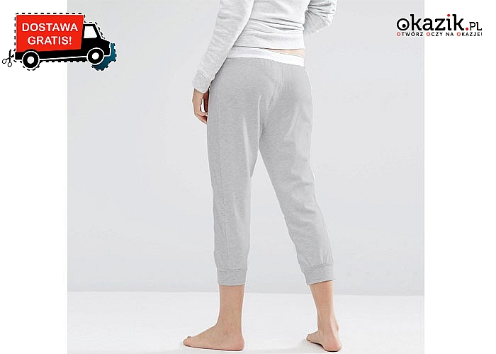 Elastyczne spodnie dresowe od Calvina Kleina! Damski model ¾ z gumą w pasie.