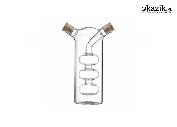 Designerska butelka  2 w 1. Dozownik na ocet oraz oliwę- eleganckie i praktyczne rozwiązanie