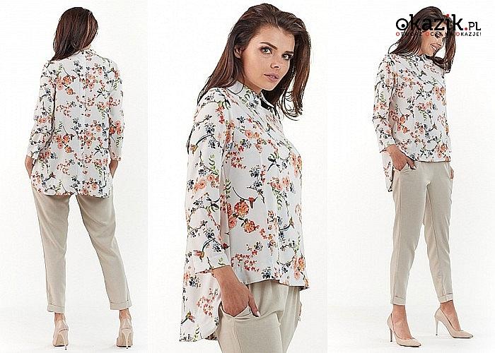 Idealna na wiosnę! Koszula damska AWAMA! Najwyższa jakość! Modny fason!