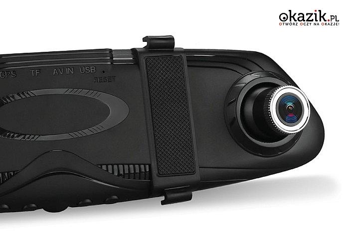 Kamera cofania Vordon DVR 190 z rejestratorem  wbudowanym w lusterko