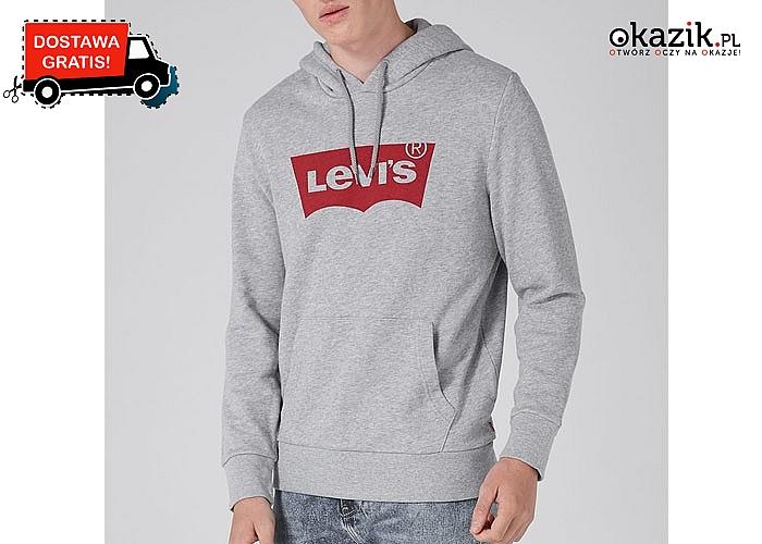Sportowa bluza Levi's! Luźny fason z kapturem i kieszenią typu kangurek. 3 kolory do wyboru.