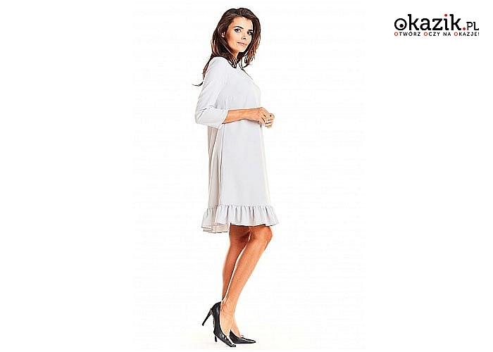 Sukience Trapezowa w tym kroju zawsze będziesz dobrze się prezentować. Sukienka doskonale maskuje niedoskonałości figury