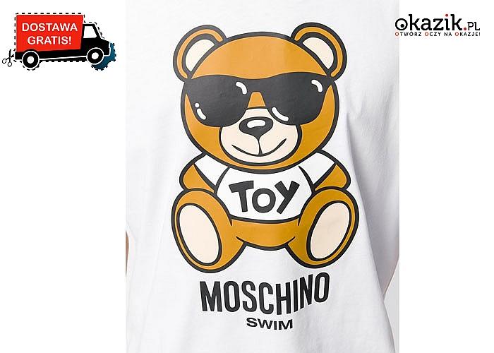 Stylowe męskie wydanie! Koszulka Moschino w dwóch kolorach do wyboru