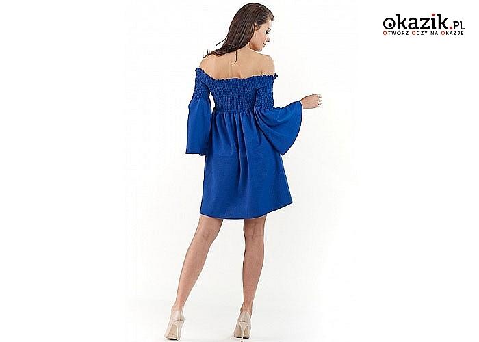 Niezwykle atrakcyjne sukienka, typu hiszpanka, niezobowiązujący styl, doskonały na różne okazje