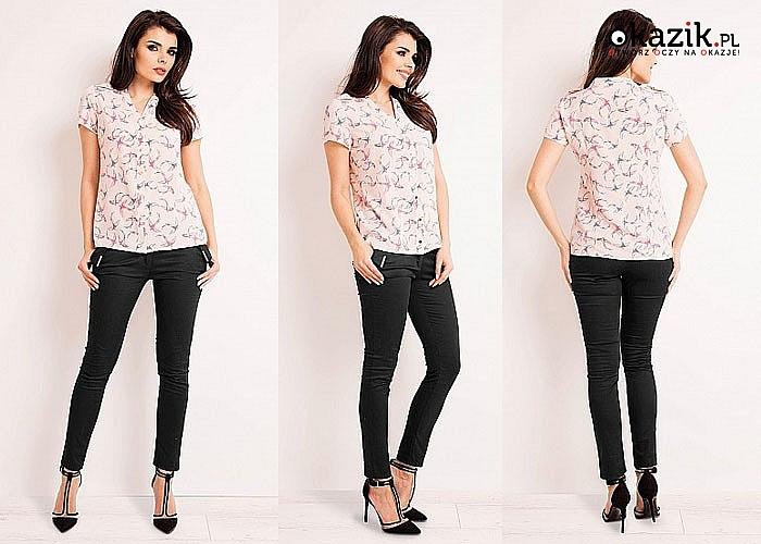 Bluzka koszulowa, w bardzo modnym a jednocześnie ponadczasowym kroju
