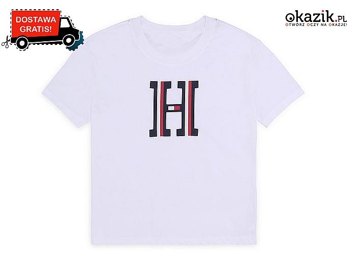Koszulka damska od Tommy Hilfiger. W białym lub czerwonym kolorze do wyboru