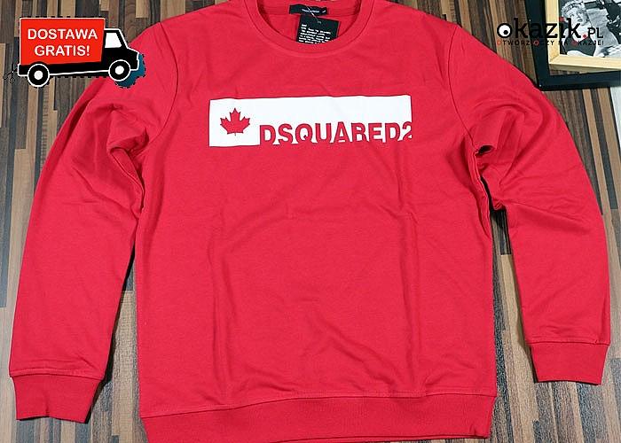 Nowość! Bluza męska znanej marki Dsquared2! Najwyższa jakość wykonania! Doskonała dla każdego!
