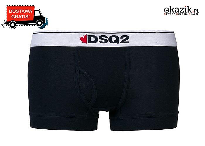 Bokserki męskie Dsquared2! W trzech kolorach do wyboru, z szeroką gumą w pasie i kontrastowym logo