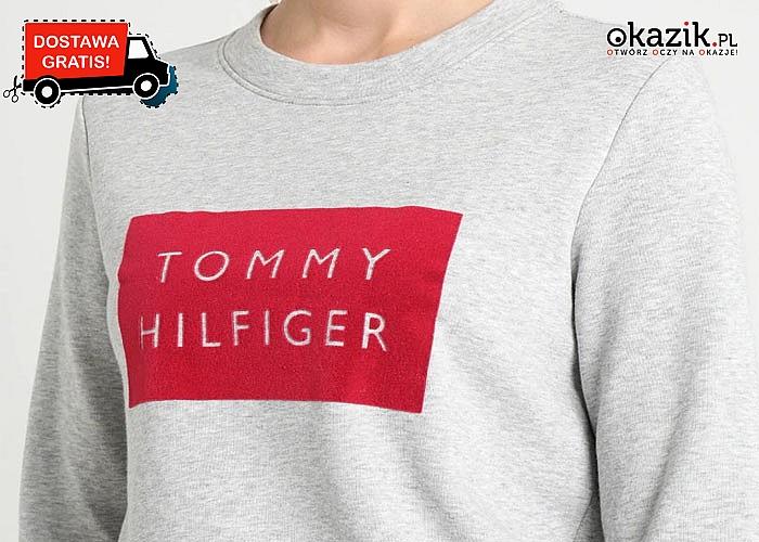 Bawełniana bluza damska od Tommy Hilfiger! Prosty krój, stonowany design, uniwersalny kolor!