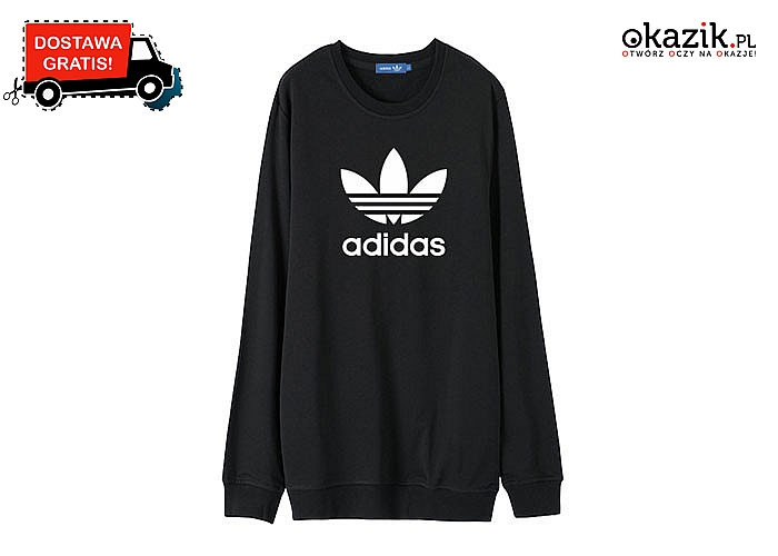 Damska bluza jak tunika! Stylowy model od Adidas w czterech kolorach do wyboru!