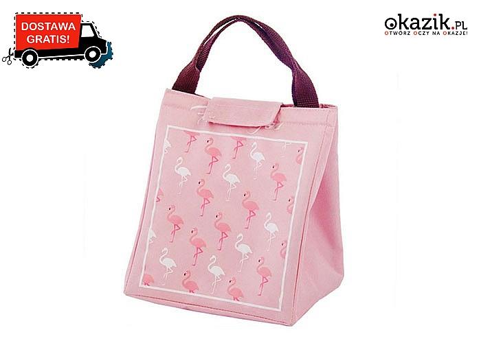 Hit na wiosnę! Modna torba termoizolacyjna z flamingami! Najwyższa jakość!